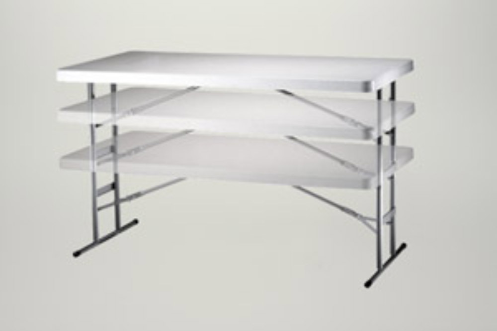 lej Bord, højde-justerbar, 76x183 cm