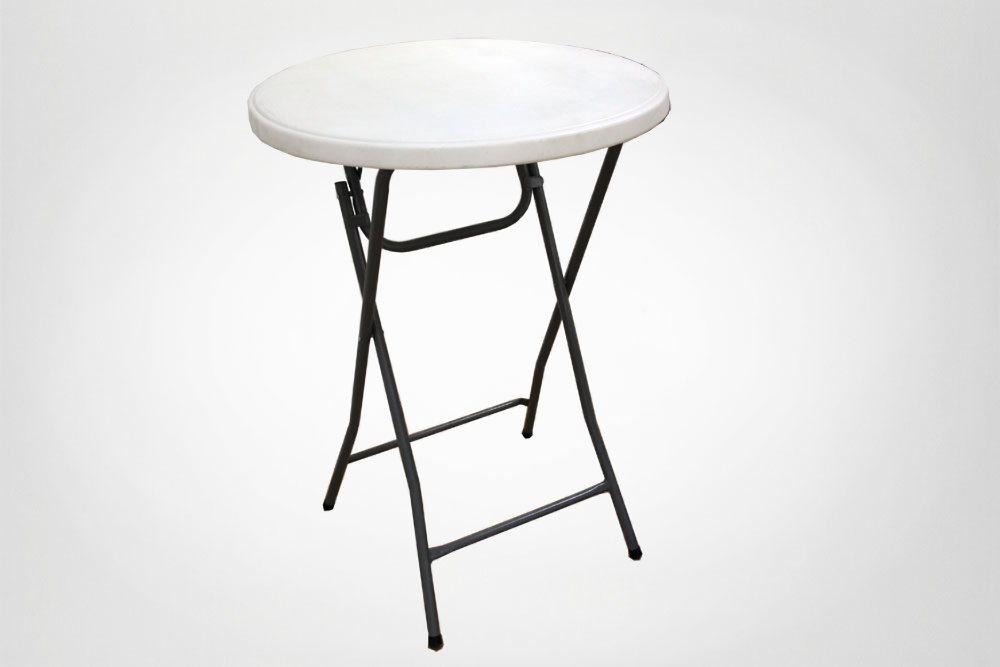 Ståborde, sammenklappelig, 110 høj, Ø 80 cm