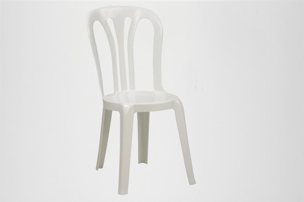 Lej Plaststole, hvid udendørs