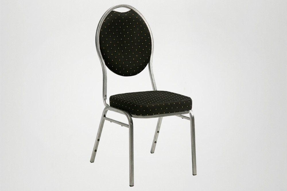 lej Banquet stol, sort m/nitsmønster